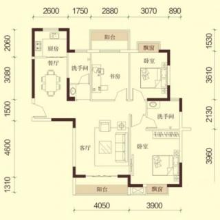 1、2、5号楼A1户型