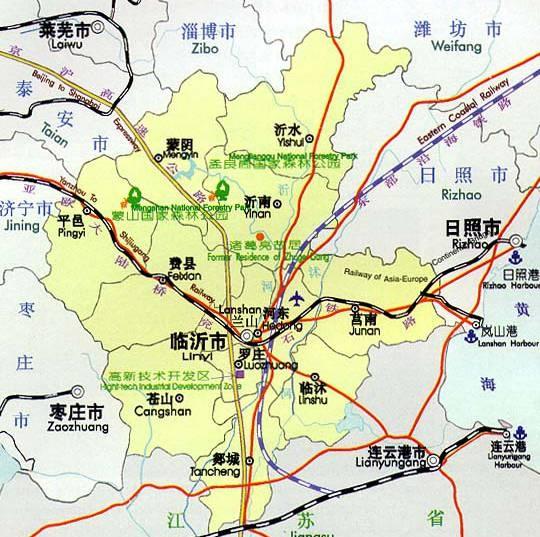 山东临沂地图高清版
