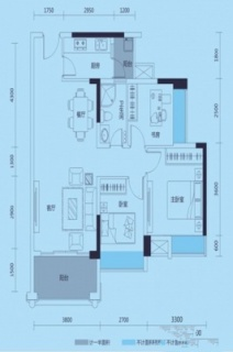 D户型三房两厅一卫89平