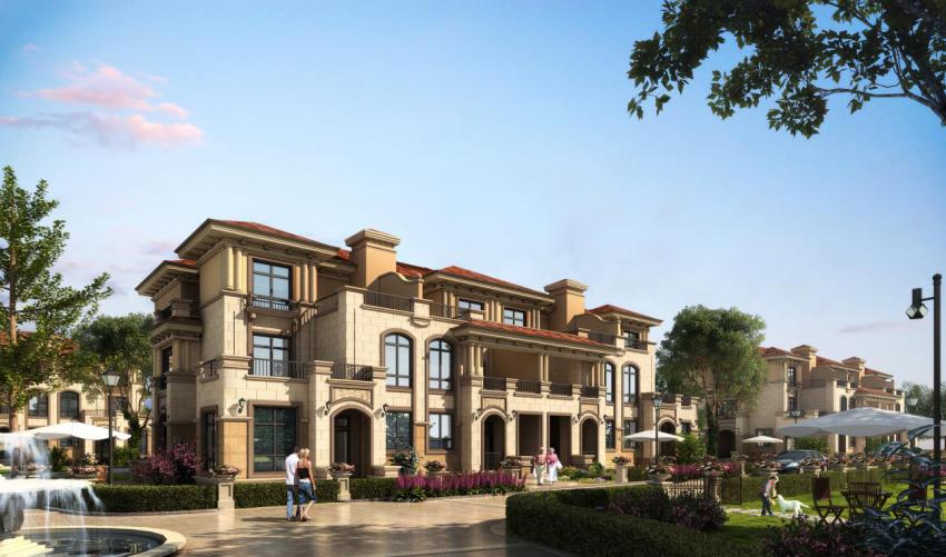 无论是联排还是双拼,每一栋别墅均按照大独栋别墅外观设计.