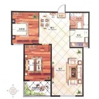 10#两居户型图