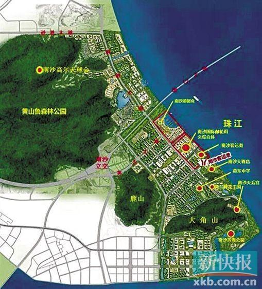 南沙滨海半岛平面图