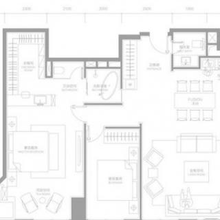 两室两厅户型c