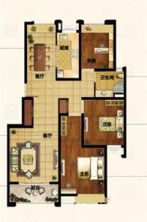 126平3房户型