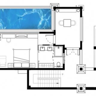 65㎡一居室叠层泳池别墅