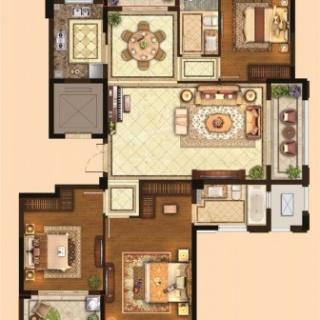 三室两厅两卫144平
