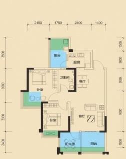 二期1号楼标准层B4户型