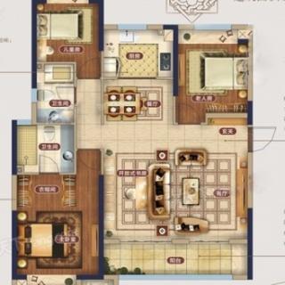 1-6号楼B1户型