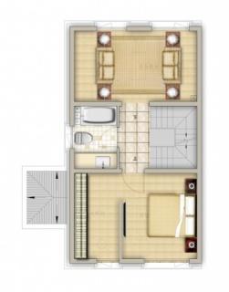 联排别墅南150平二层