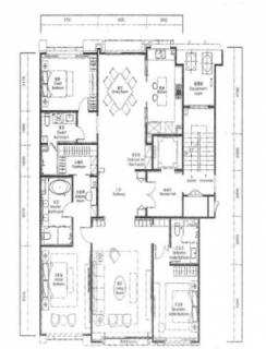 249平米3居户型