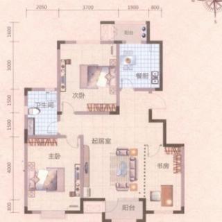 洋房标准层C2户型