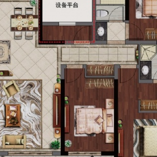 138平四房两厅两卫