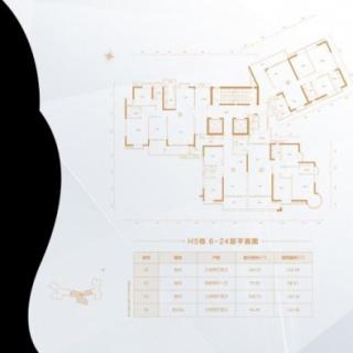 H5栋6-24层平面图