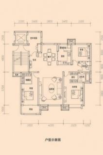 洋房标准层D户型