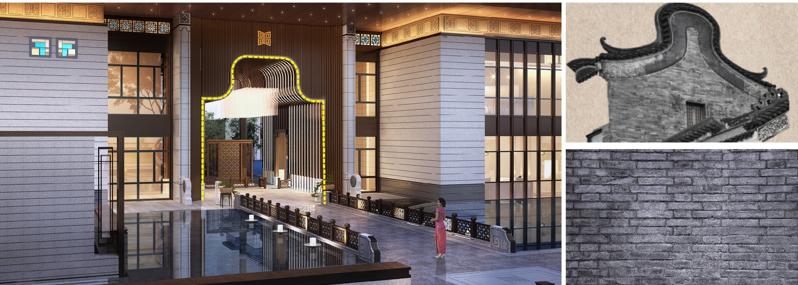 承载琉璃花纹,广式满洲窗岭南文化,以现代建筑设计演绎,重构现代岭南