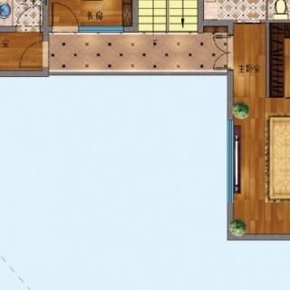 E户型二层 3+2房两厅四卫
