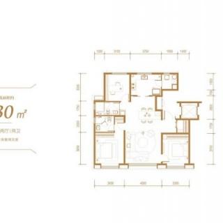 洋房标准层130平户型