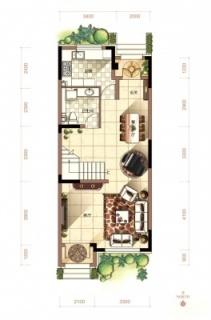 二期联排别墅中户户型2层