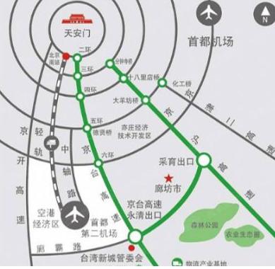 永清县城街道地图
