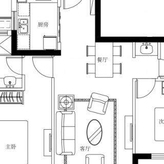 24#、25#楼H1户型