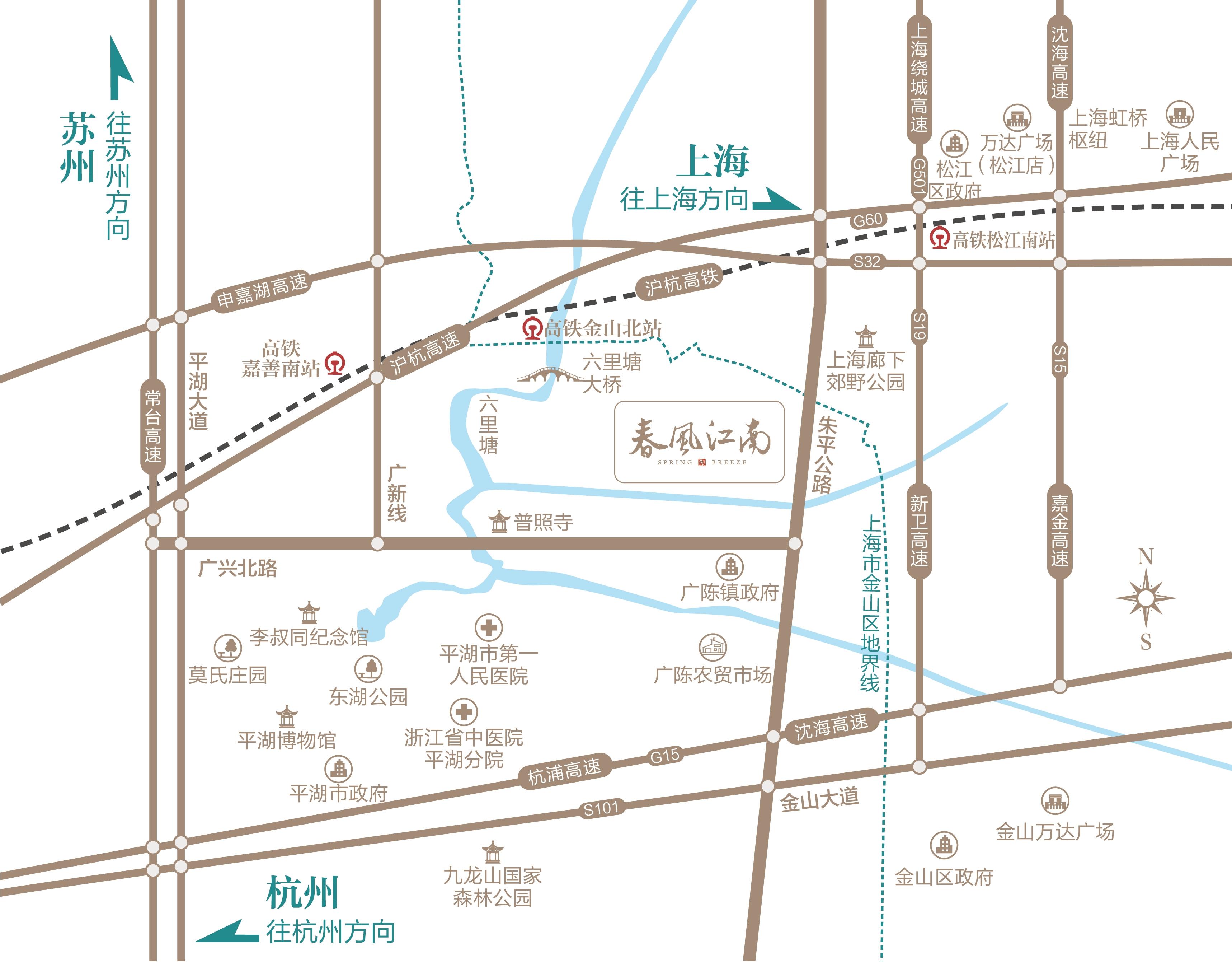 蓝城春风江南规划图2