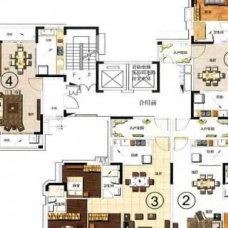 3栋二至十五层楼层分布图