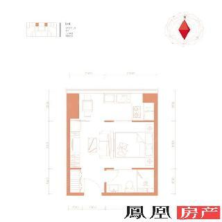 50平B-4一居户型图