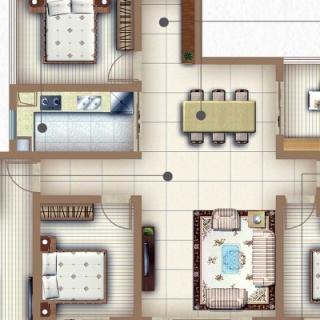 户型F1五房两厅两卫