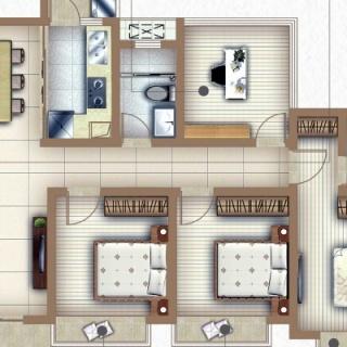 户型D四房两厅两卫