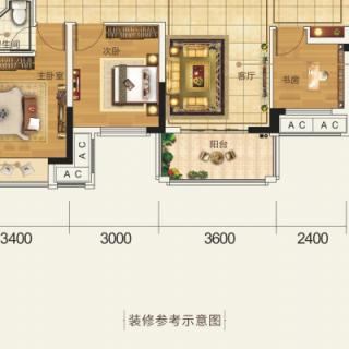 B 四房两厅两卫