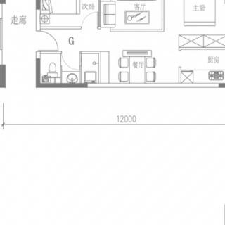 G户型(4号楼平层)