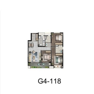 G4户型118平