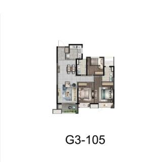 G3户型105平