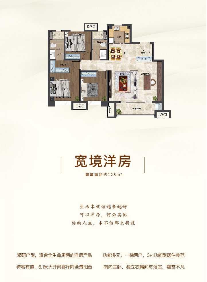 洋房125平米户型
