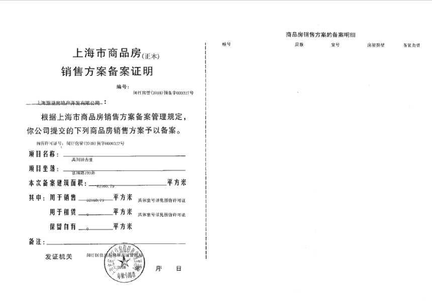 禹洲府·名廷项目证照5