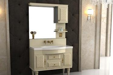 新品评测:瑰丽大气——安华卫浴仿古浴室柜